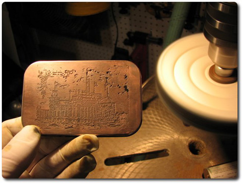 Steampunk Workshop - Copper Plating and Etching Altoid Tins