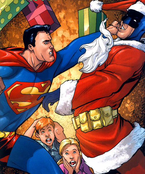 supermanbeatingupbatsanta